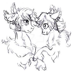 Valentines Day Wildling pairing sketch