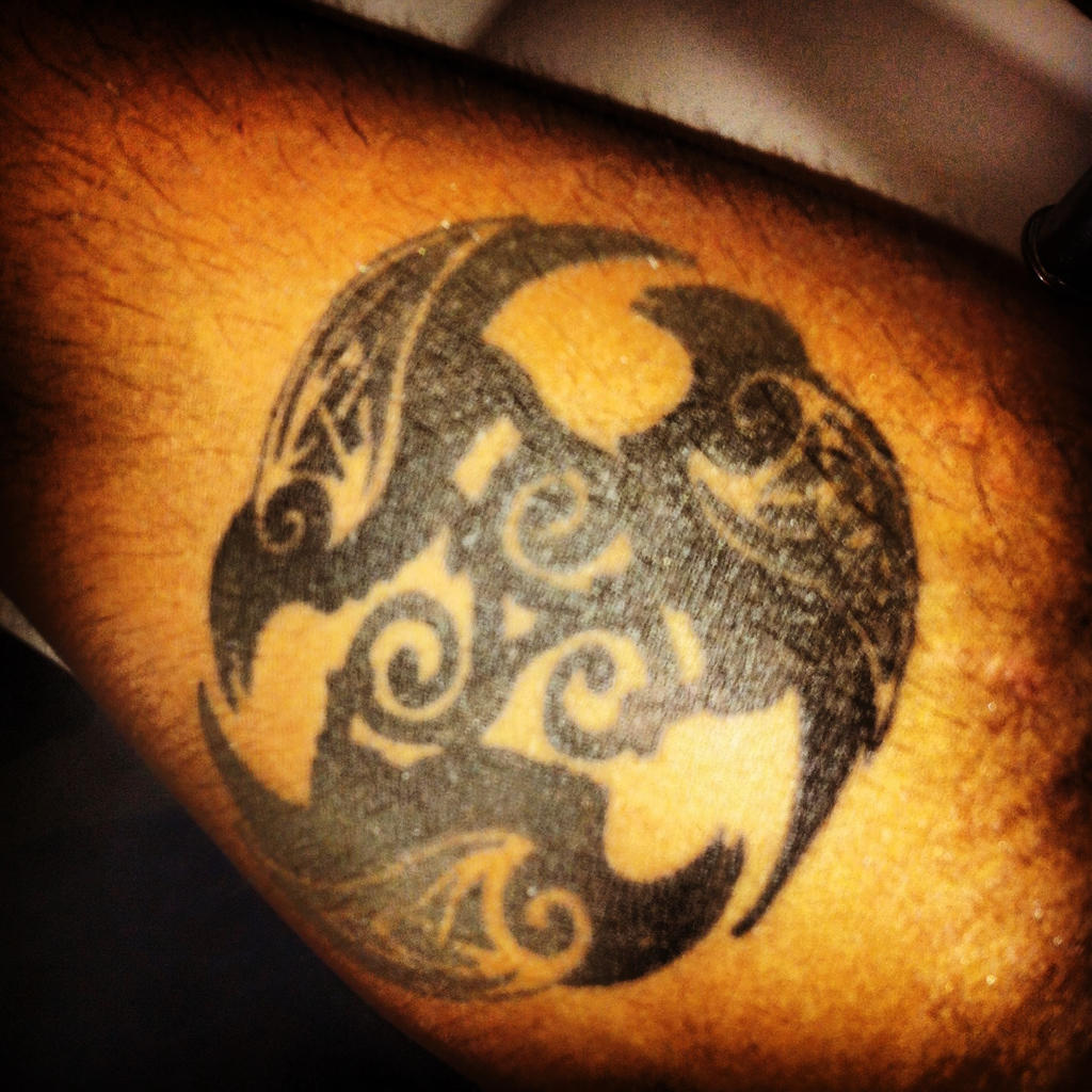 Celtic Ravens tattoo by Kira510DN