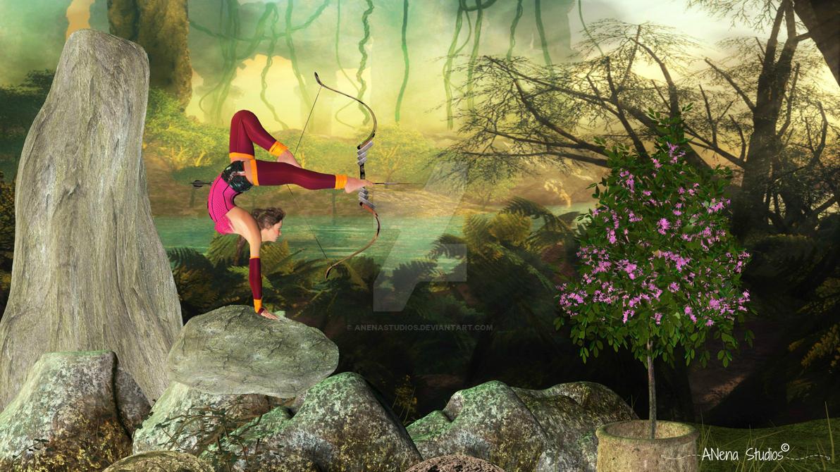 Archery pose by anena studios by ANenaStudios
