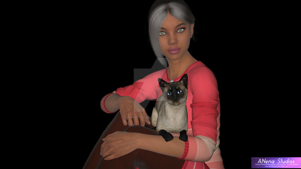 Athena and her Owner by ANena Studios by ANenaStudios