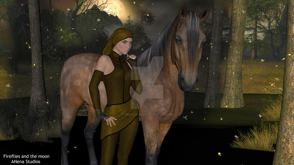 Fireflies and the moon Anena studios by ANenaStudios