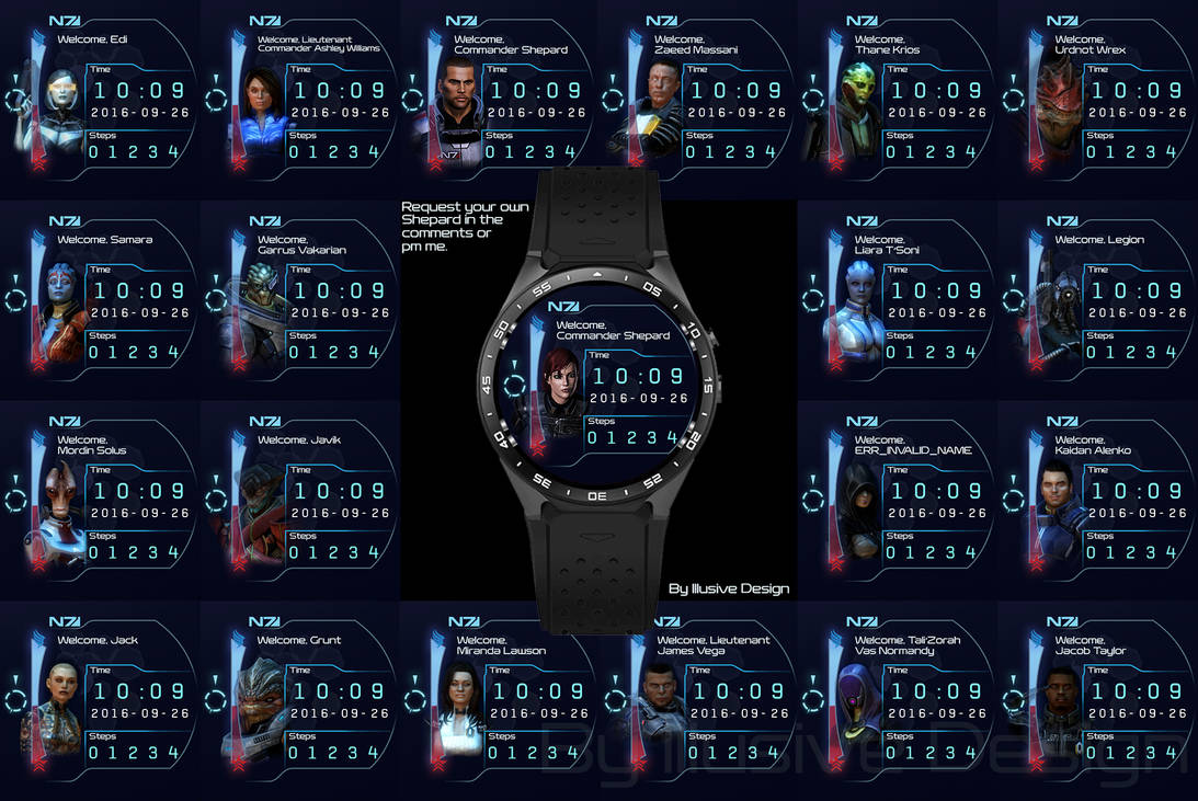 Mass Effect Watchfaces by Illusive-Design on DeviantArt