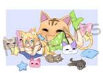 Commission - Comfy Cats~