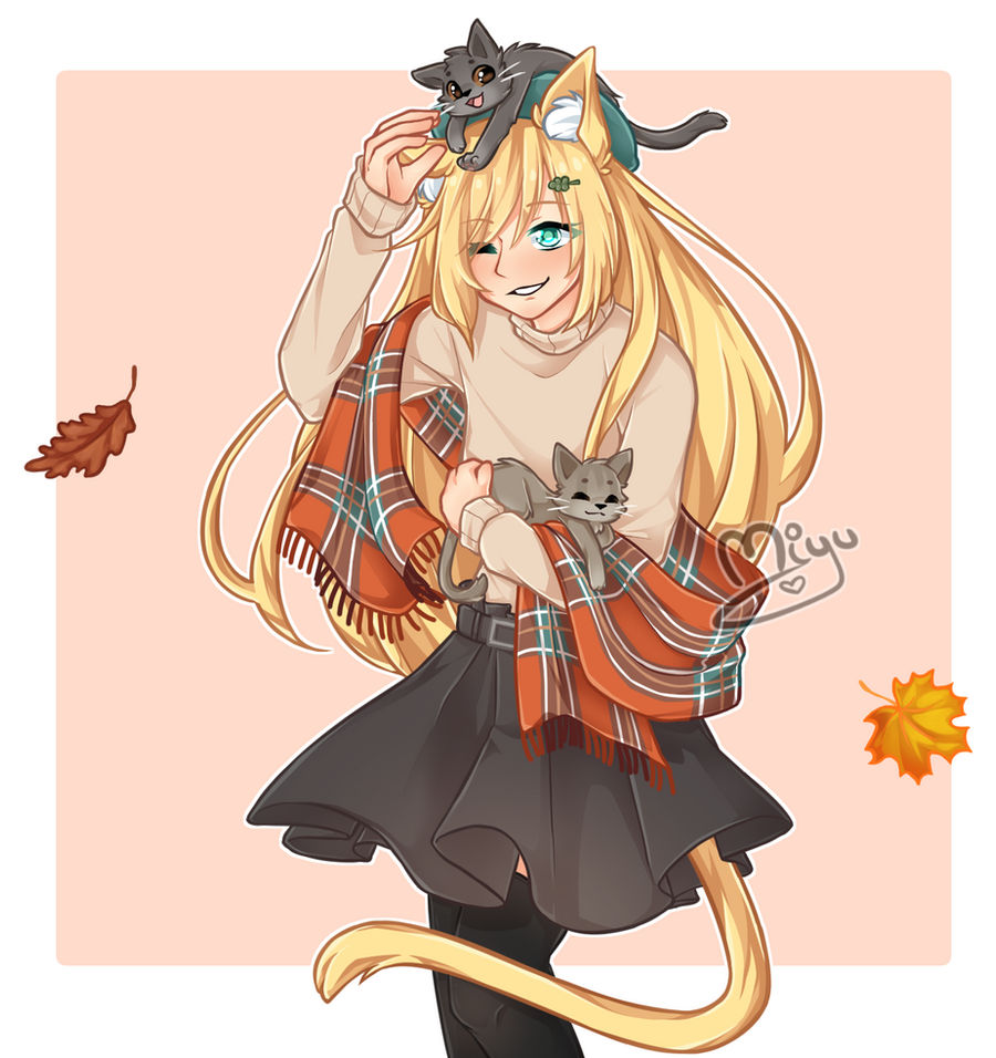 Commission - Autumn Cats