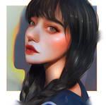 Stylised portrait study