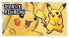 Pikachu fan stamp by Elik-Chan