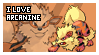 Arcanine fan stamp by Elik-Chan