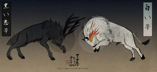 Black nightmare, White dream by Edge-chan