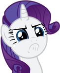Rarity tries to stare