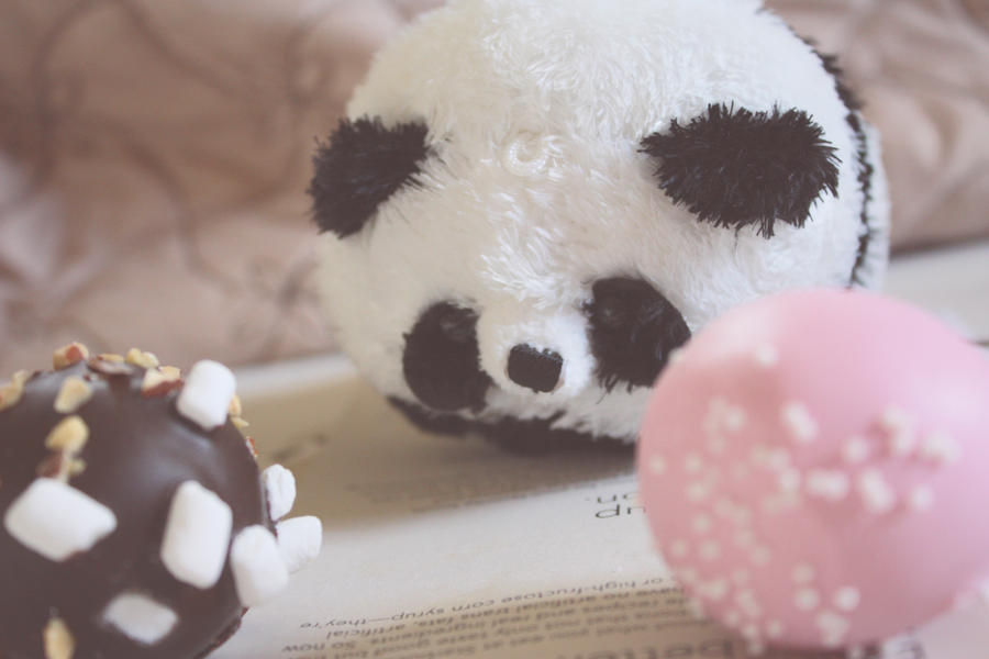 Panda and Starbucks Cake Pops by AlreadyOverWhat