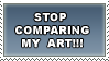 STOP comparing my art by Mona-sama