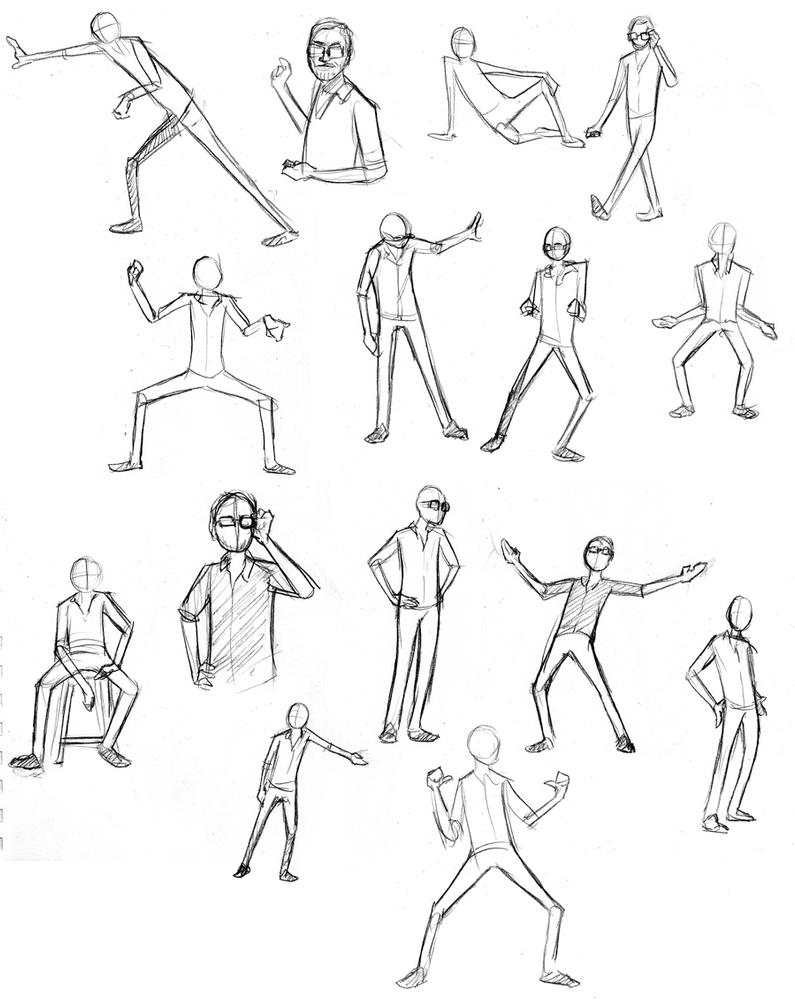 gesture drawings 1 by incongruousinquiry on deviantart