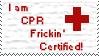 CPR Frickin' Certified Stamp by SandNinjaAyu