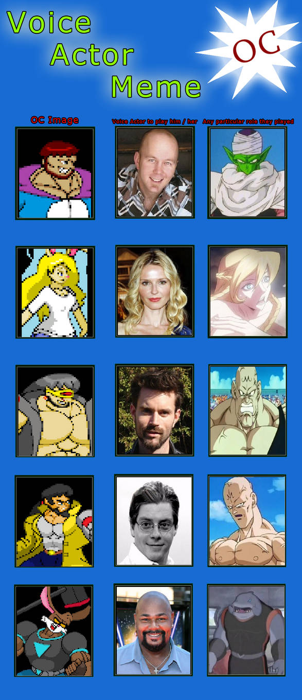Voice Actor Meme - some of White Knights cast by Valera-Kram on