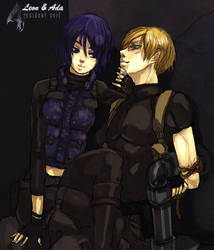 RE4 Leon and Ada by O-Kei