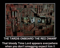 The Tardis onboard the Red Dwarf by DoctorWhoOne