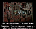 The Tardis onboard the Red Dwarf