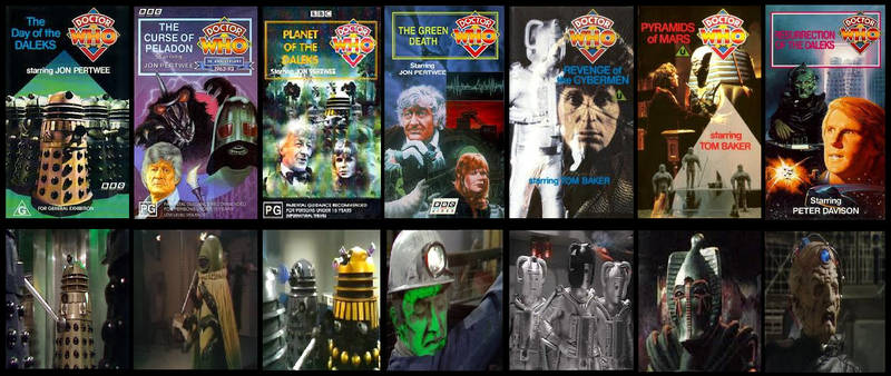 My earliest memories of Doctor Who on VHS Videos