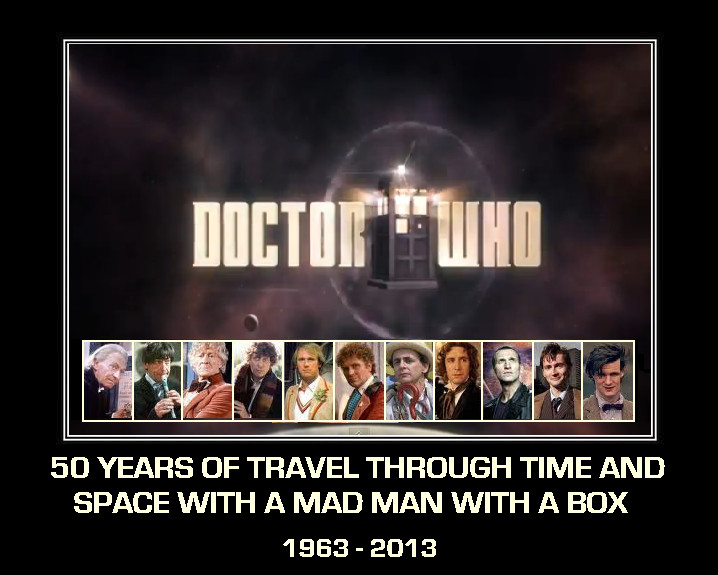 Doctor Who - 50th Anniversary poster [fan-made] by DoctorWhoOne
