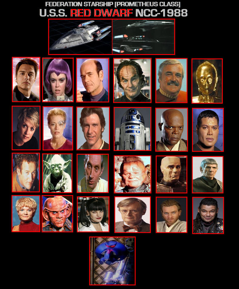 Crew of the USS.RED DWARF NCC-1988 by DoctorWhoOne