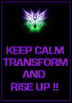 Transformers - Decepticons 'Keep Calm' Poster