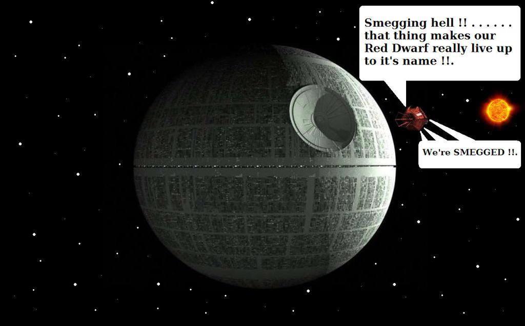 Red Dwarf - Dwarfed by a giant metal Beach Ball by ...