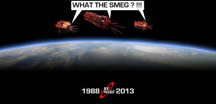 Red Dwarf - 3 generations of the same Mining Ship