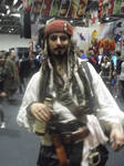 London MCM Expo - Captain Jack Sparrow Cosplayer by DoctorWhoOne