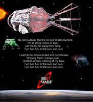Red Dwarf - Lyrics Poster by DoctorWhoOne
