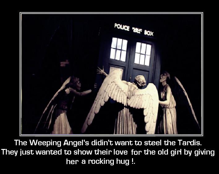 Doctor Who - Weeping Angel's  - Tardis Huggers by DoctorWhoOne