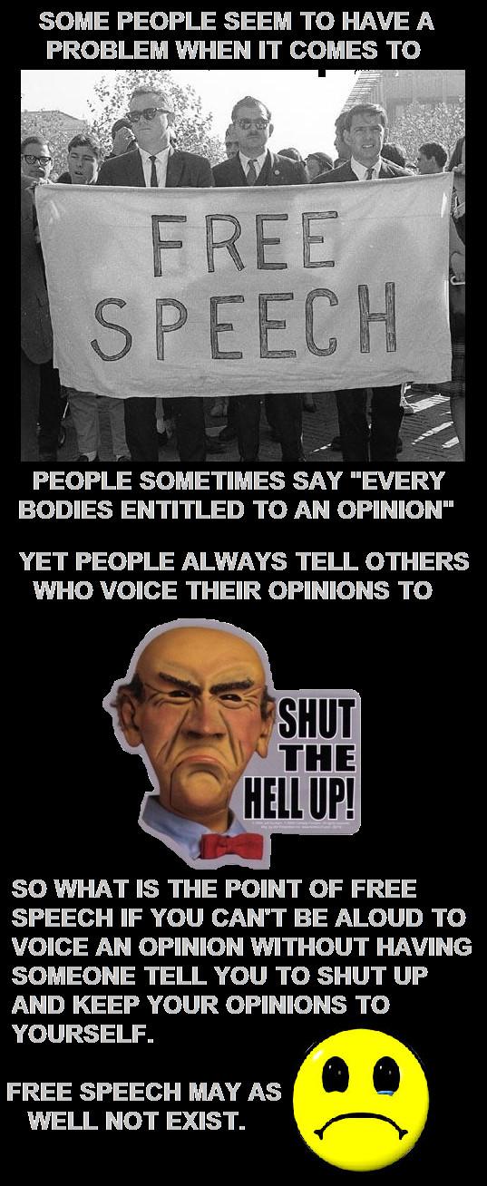 Free Speech by DoctorWhoOne