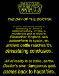 Doctor Who / Star Wars - T.D.O.T.D. Opening Crawl