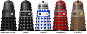 Doctor Who - Davros's planned Dalek Hierarchy by DoctorWhoOne