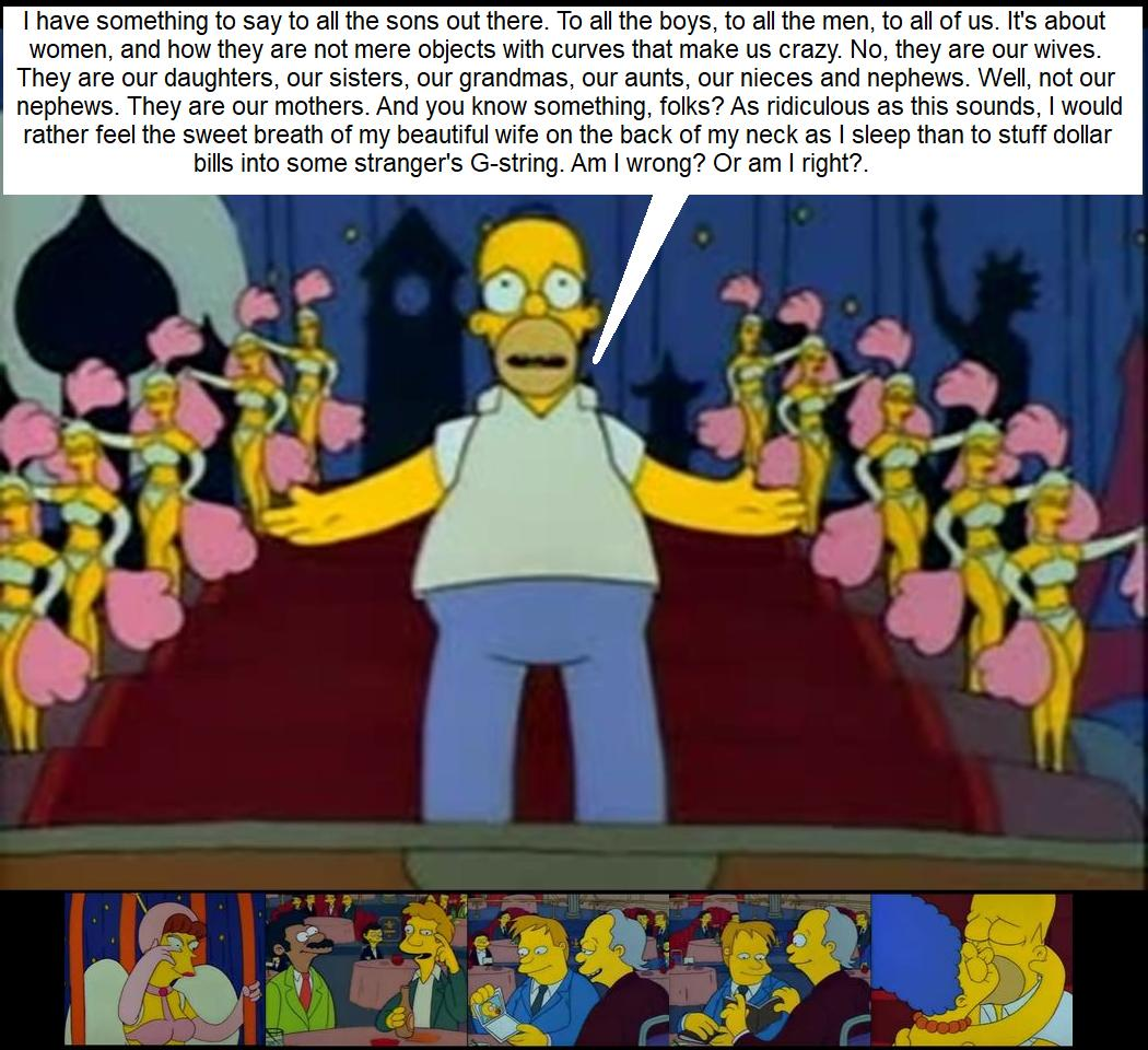 The Simpson's - Homer's message about women