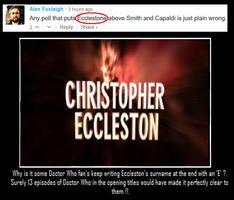 Doctor Who - It's not Ecclestone