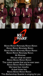 Red Dwarf - Rimmer Barbershop Quartet by DoctorWhoOne