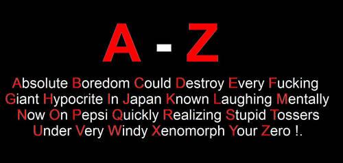 A - Z by DoctorWhoOne