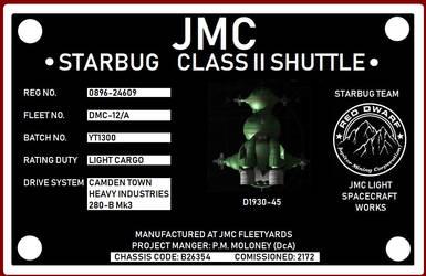 Red Dwarf - Starbug Registry Sign
