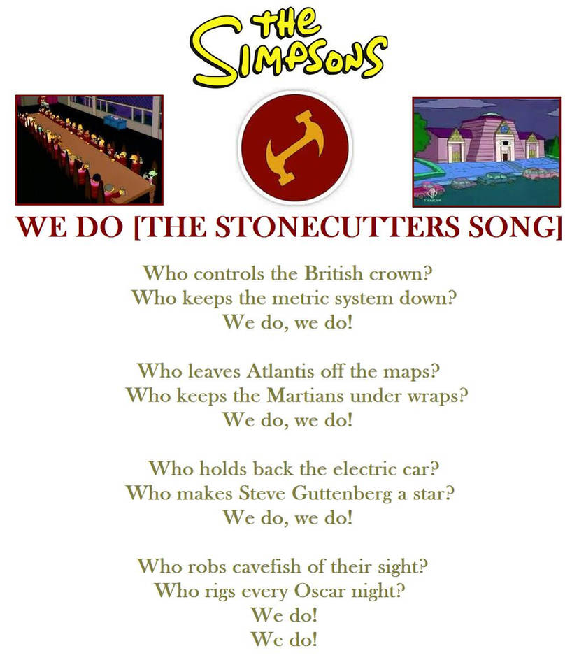 The Simpson's - The Stonecutters Song by DoctorWhoOne on DeviantArt