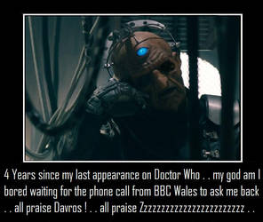 Doctor Who - Davros is bored waiting