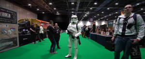 JK and the Stormtrooper - MCM London Comic-Con by DoctorWhoOne