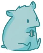 fat hamster by DrunkOnTea