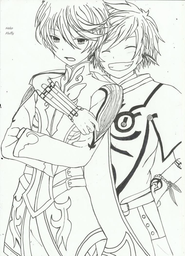 Mikleo and Sorey (Toz) by NekoFluffy