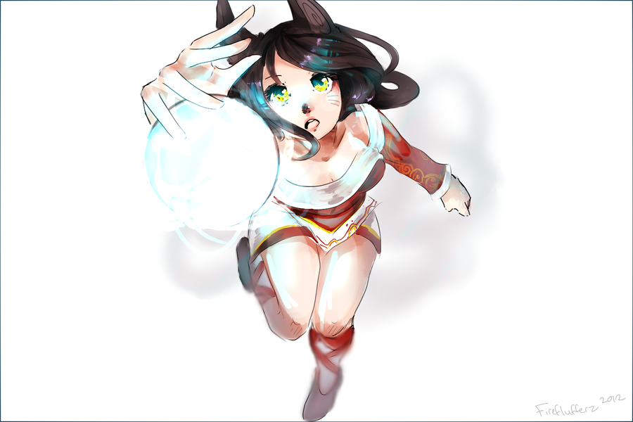 another ahri by FireFlufferz