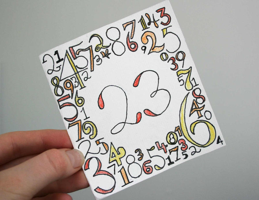 23rd Numbers Birthday Card by Natushi12 on DeviantArt – 23 Birthday Cards