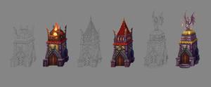 Fantasy Towers by ElizavetaS