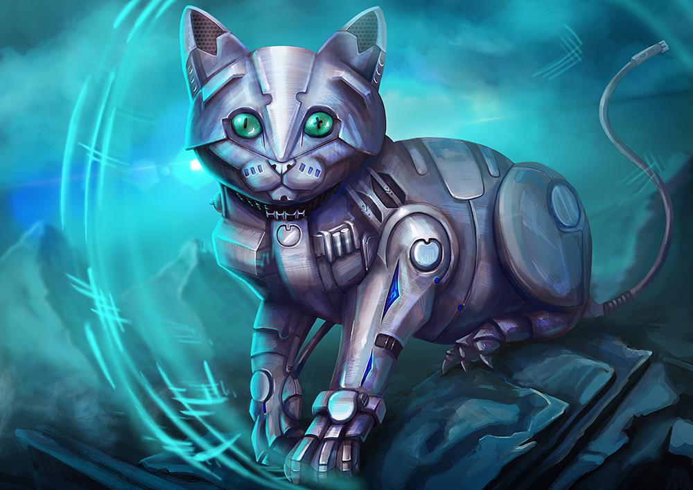 Robotcat by ElizavetaS