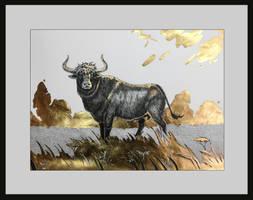 Golden Taurus Drawing