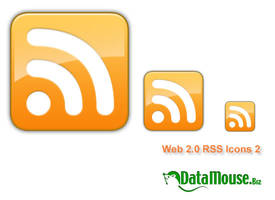 Web 2.0 RSS Icon 2 by datamouse