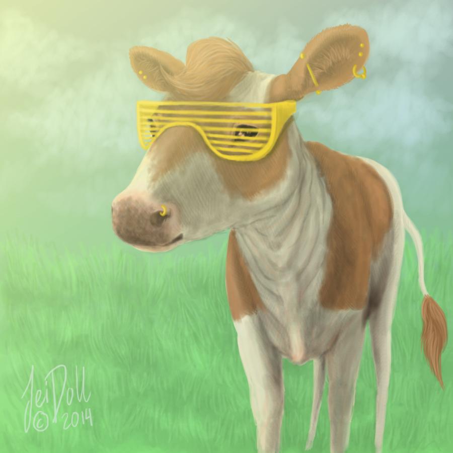 YO IMA PIMP COW by JeiDoll